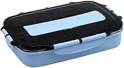 FunFive Bentobox pudełko na lunch dla dzieci i uczniów, wielokrotnego użytku, z przegródkami i sztućcami, kolor niebieski