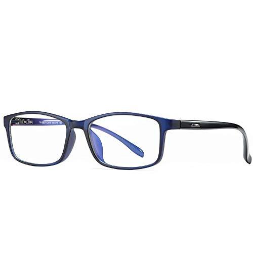 Sonnenbrille Sunglasses Tr90 Blaulichtbrille/Unisex-Computerbrille/Anti-Blaulicht-Schutzbrille/Spielschutzbrille Men C2Blue