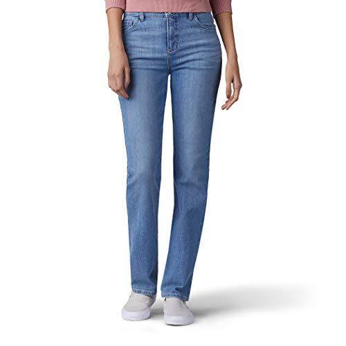 LEE Women's Classic Fit Monroe Straight-Leg Jean, Inspire Blue, 6 Long