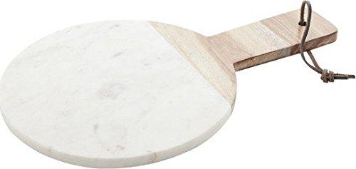 Cosy & Trendy 8931730 Planche Fromage Marbre Blanc/Brun Diamètre 25 x Hauteur 39 cm