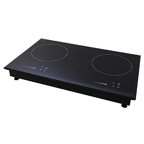 Induktionsherd, langlebiger Einbau-Doppelkochinduktionsherd Haushalt hohe Leistung, schwarz-Panel Touch-Steuerung, Schwarz (Farbe: Schwarz) (Farbe: Schwarz) YCLIN (Color : Black)