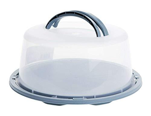 Meinposten. Kuchenbehälter Ø 34 cm Tortenbehälter Kuchenbox Transportbehälter Box Kuchenbox Tortenbox (Blau)