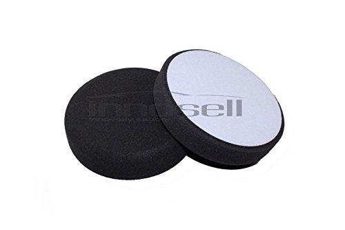 Preisvergleich Produktbild Innosell Polierschwamm Durchmesser 160 x30 mm anthrazit Soft hochwertig und langlebig 1Set 2 Stück