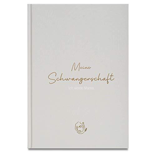 LEAF & GOLD® Schwangerschaftstagebuch I Tagebuch für die Schwangerschaft zum eintragen I Tolles Geschenk für Schwangere und werdende Mütter