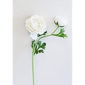 Real Touch Flowers White Silk Ranunculus – Wedding Event and Home Decor
