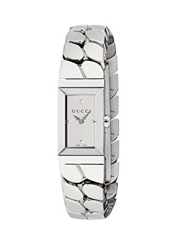 Gucci Damen Datum klassisch Quarz Uhr mit Edelstahl Armband YA147501