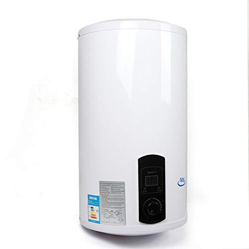Aohuada Elektro Warmwasserspeicher Wandhängender - Größenwahl 50/80/100 Liter Speicher 2000W Heizleistung und Thermometer - Boiler, Wasserboiler, Warmwasserboiler (50L)