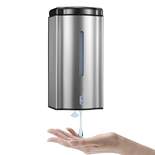 Automatic Soap Dispenser,600Ml Wall Mounted Stainless Steel Touchless Auto Hand Soap Dispenser for Bathroom Kitchen Hotel Restaurant