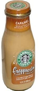 Starbucks Frappuccino, Caramel, 9.5 Oz. Glass Bottles / 12 PK