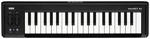 KORG microKEY2 Air 37 Keyboard mit 37 Tasten, schwarz, Bluetooth Controller, MIDI-Keyboard für Musik- bzw. Studioproduktionen