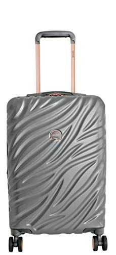 Delsey Alexis Lightweight Luggage Set 3 Pieces, Double Wheel Hardshell Suitcases, Expandable Spinner Suitcase with TSA Lock and Carry On (Platinum/Rose Gold, Carry-on)