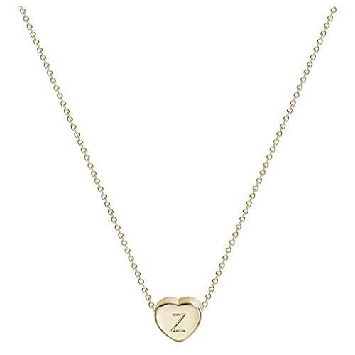 Dorical Buchstaben Kette/Damen-Kette Buchstaben A-Z in Silber oder Rosegold - Alphabet Halskette mit Anhänger- Silberkette Halschmuck für Damen, Kinder & Herren Sonderverkauf(01-Z,One Size)
