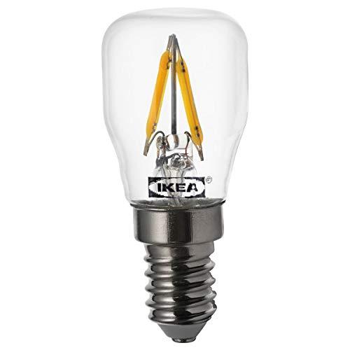 IKEA RYET - Bombilla LED (E14, 80 lúmenes, transparente)