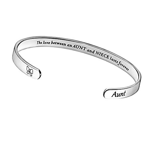 Pulsera de tía, regalo para mujeres, familia, cumpleaños, Navidad, regalo de amor entre una tía y sobrina dura para siempre