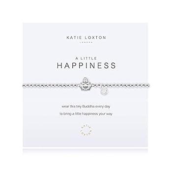Katie Loxton A Little Happiness Buddha Silver Women s One Size Stretch Charm Bangle Bracelet