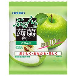 オリヒロ ぷるんと蒟蒻ゼリー 青りんご 20gパウチ×6個×24袋入×(2ケース)