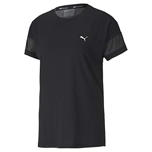 PUMA Damen T-Shirt Feel It Mesh Logo Tee, Black, M, 518929