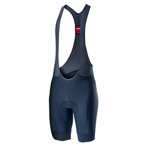 CASTELLI Entrata - Culotte Corto (Talla M), Pantalones Cortos de Ciclismo, Medium, Azul Oscuro Infinito.