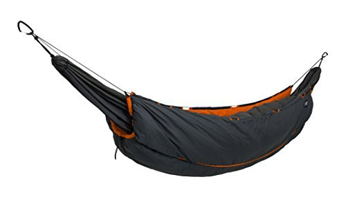 ENO - Eagles Nest Outfitters Vulcan UnderQuilt, Ultralight Camping Quilt, Orange/Charcoal