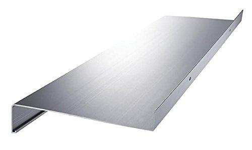 empasa Aluminium Fensterbank Fensterbrett für außen Ausladung 90 mm in verschiedenen Längen weiß, silber, dunkelbronze, anthrazit