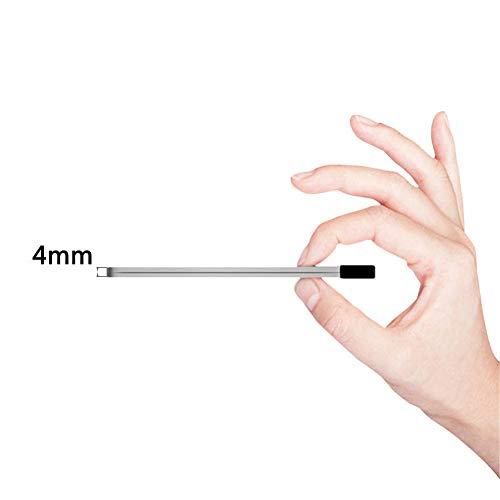 1500mAh Mini Portable Ultra Slim Power Bank Forme de Carte de crédit Taille de la Poche Batterie Externe Compatible avec Les Smartphones ipone Android, Cadeau de Noël,1500mAh,Black+iphone