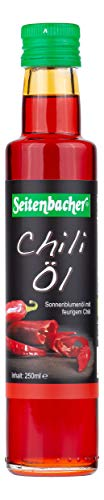 Seitenbacher Bio Chiliöl, kba extra virgin, 2er Pack (2 x 250 ml) - Bio