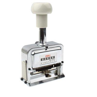 Krimpfolie Robuust en duurzaam High Performance Metaal Materiaal Automatische Nummering Machine (12 Code) (zilver) spanbanden label machine elektrische pomp