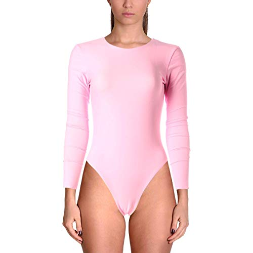 Cynthia Rowley Womens Gemma Open Back Reversible Surf Suit, Medium Pink/Nude