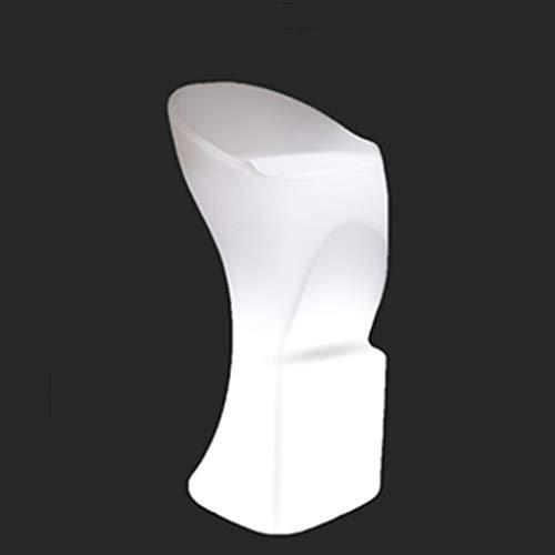 ☀ JBD Creative LED Tabouret De Bar Moderne Simple Éclairer Chaise Personnalité Café Compteur Télécommande Décoloration Siège