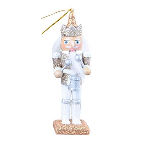 tanbea-UK Ornamento Cascanueces Cascanueces Decoraciones de Navidad – Cascanueces marioneta 2020 Nuevo 12 CM Set 5 Piezas Glitter Polvo Clásico Cascanueces Puppet Colgante venta 2019