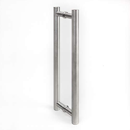 Manija de Puerta Tirador de 350 mm de Acero Inoxidable Satinado Manija Puerta de Cristal
