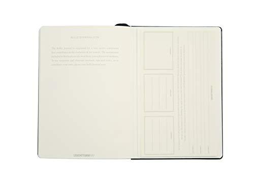 ロイヒトトゥルムノートA5ドット方眼バレットジャーナルブラック346703正規輸入品