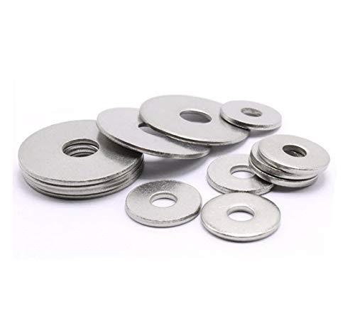 M5 A4 Edelstahl Penny Repair Holzschutzblech Unterlegscheibe DIN 9021 Packungsgröße: 30