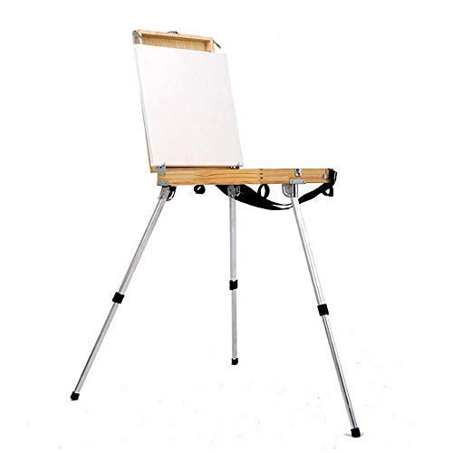 HO-TBO Caballete plegable portátil con caja de madera integrada pintores de dibujo...