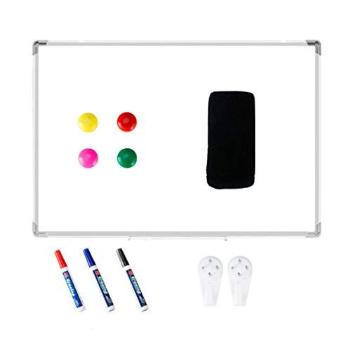 XINKO Tableau Blanc magnétique, Tableau effaçable à Sec, Tableau Blanc, Cadre en Aluminium argenté avec 4X aimants, 1x Gomme, 3X Stylo effaçable à Sec