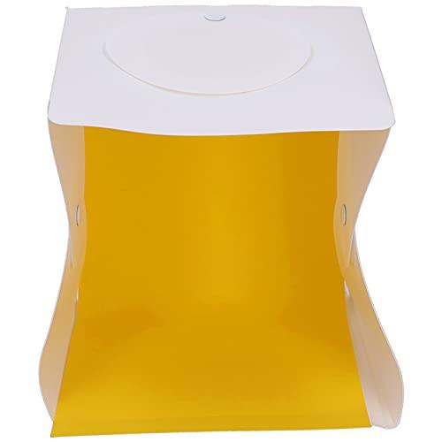 KUIDAMOS Caja de luz con Caja de luz para fotografía, Caja Suave con luz Mini LED Fácil de Disparar Desde Arriba Brillo Ajustable y sin estroboscopio Opcionales para Disparar