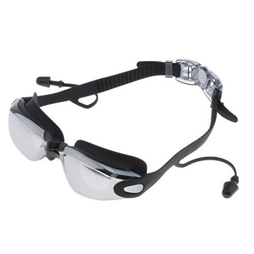 Amuzocity Gafas de Natación Gafas de Seguridad para Piscina con Vista Grande Equipo para Auriculares