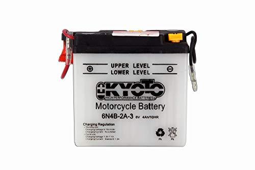 Kyoto - Motorrad Batterie 6N4B-2A-3 6V 4Ah - Akku(s)