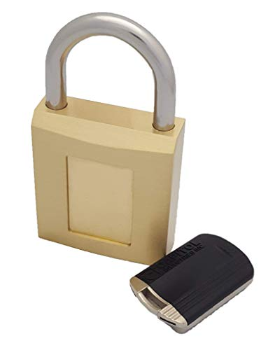 Capitol Industries Magnetic Padlock, Magnetic Lock in Heavyduty Brass, M-8000