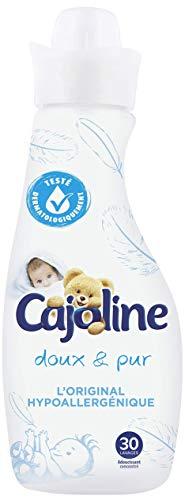 Cajoline Adoucissant Concentré, Doux & Pur, Peaux sensibles, Hypoallergénique, Assouplissant linge 750ml