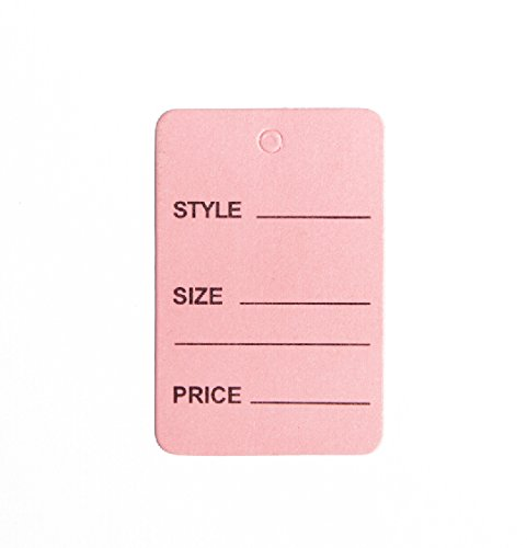"""1000pcs Pink Color One Part Unstrung Perforated Price Coupon Tag Clothing Price Labels/clothing Tag/perforated Price Coupon Tags 1 1/4"""" X 1 7/8"""""""