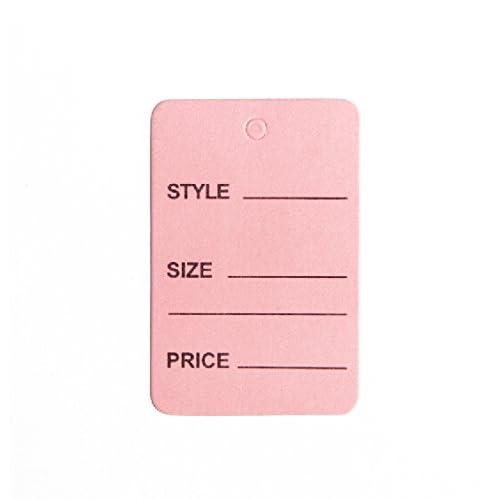 Ivory BUFF Tan 2 part Merchandise Garment Sale Price Tags Unstrung 1-1//4 x1-7//8