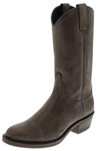 Sendra Boots Herren Cowboy Stiefel 5588 Grafit Lederstiefel Grau 48 EU