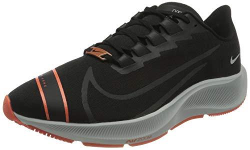 Nike Air Zoom Pegasus 37 FC, Zapatillas para Correr para Hombre, Black Photon Dust Camellia Pure Platinum Green Gusto, 49.5 EU
