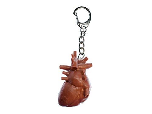 Miniblings Anillo de Llavero llaveros corazón de órganos Human Anatomy