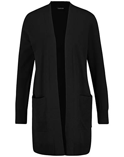 Taifun Womens Jacke Strick Shrug Sweater, Black, XXX-Large
