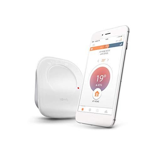 Somfy 2401499 - vernetzter Funkthermostat | Funkthermostat für Heizung oder einzelne Boiler | potentialfreier Kontakt | Kompatibel mit Amazon Alexa, Google Assistant und TaHoma