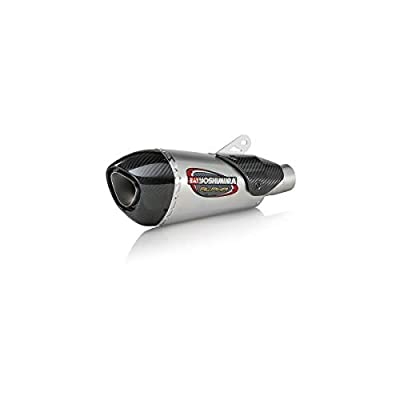 Yoshimura Alpha T Slip-On Exhaust (Street/Stainless Steel/Stainless Steel/Carbon Fiber/Works Finish) Compatible with 18 Suzuki GSX250R