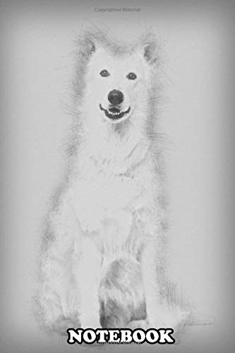 Notebook: Swiss White Shepherd Dog 4 Years Old Sitting Against W , Journal for Writing, College Ruled Size 6