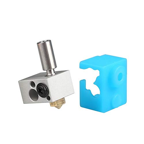 HUANRUOBAIHUO 3D Printer hotend Parts WS-V1 Water Cooled Heating Block Module Low Temperature Type High Temp 0.4/1.75 gift Silicone Socks 3D Printer Extruders accessories (Size : High temp Module S)